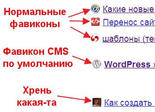 Какие существуют виды фавикона для сайта
