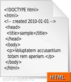 Пример html разметки страницы сайта