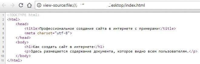Как посмотреть html код страницы сайта прямо в браузере