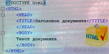 Как выглядит стандартная структура html документа