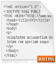 Пример структуры документа на языке XHTML