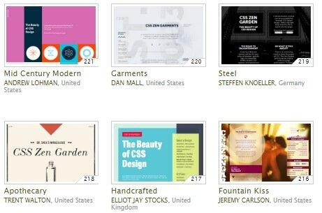 Подборка вариантов веб-дизайна для одной страницы csszengarden