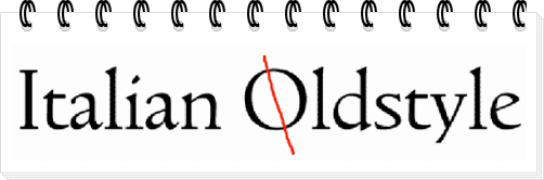 Пример шрифта старинной антиквы Italian Oldstyle