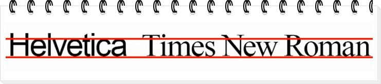 Как отличаются размеры шрифтов Times New Roman и Helvetica