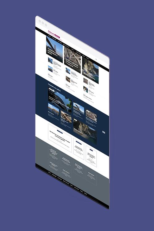 Презентация главной страницы сайта  в теме Ребут